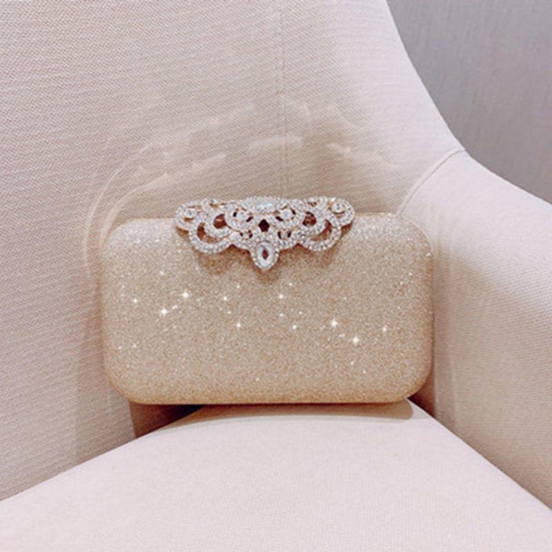 THINKTHENDO Women Flower Evening Bag Rhinestone Clutch Handbag Wedding Prom Party Purse 2019