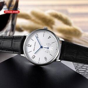 Image 4 - שחף מותג לצפות דק מכאני שעון גבירותיי שעונים אופנה עסקי עור שעון D819.612L