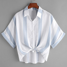 Womens Chiffon Blouse Elegant rief Office Work Wear V Neck Shirts Sleeveless  Casual Tops 7.31