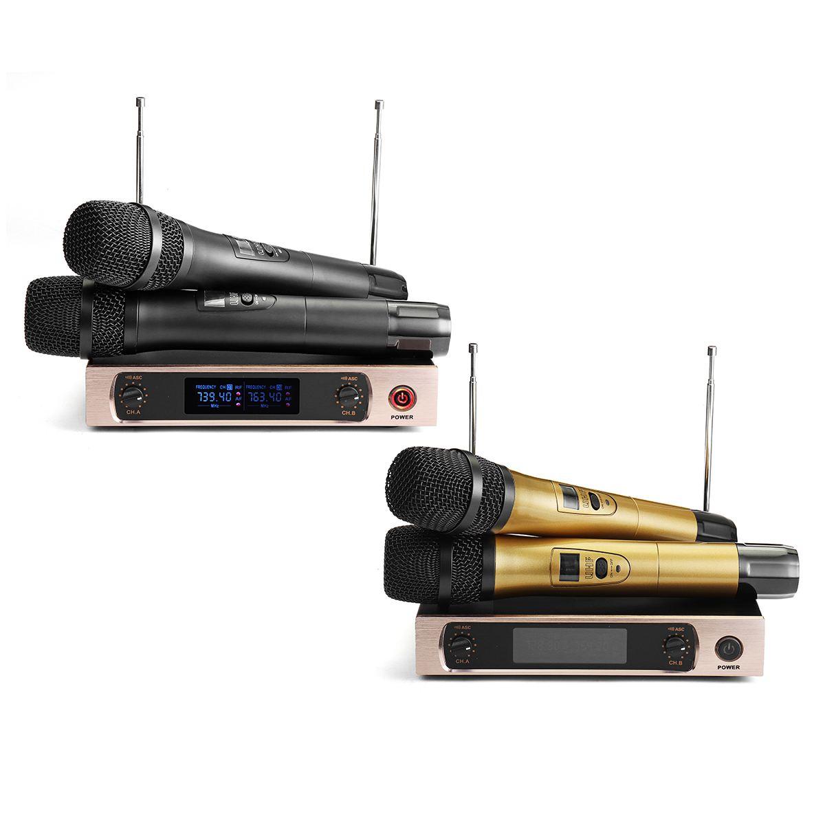KINCO U26 220V UHF longue portée double canal 2 émetteur de micro portable karaoké professionnel système de Microphone sans fil UHF - 6
