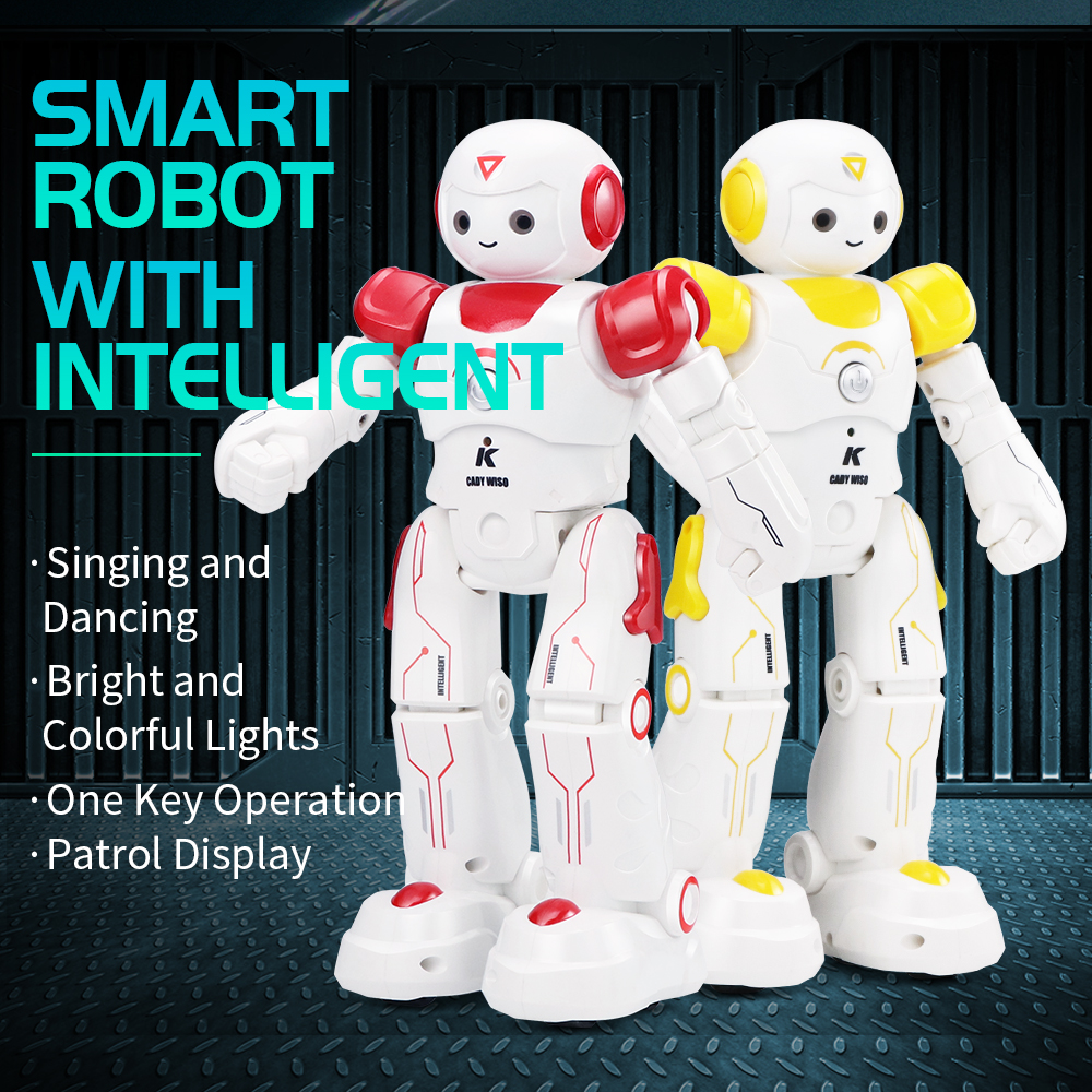 JJRC R12 RC Robot Toy Singing Dancing Talking Smart Robot For Kid Educational Toy For Children Humanoid Sense Inductive RC Robot