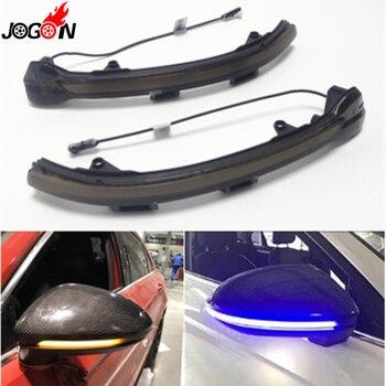 Для Фольксваген Гольф 7 VII MK7 MK7.5 GTI R GTD Touran Jetta MK7 Динамический указатель поворота светильник светодиодный боковое зеркало последовательный индикатор