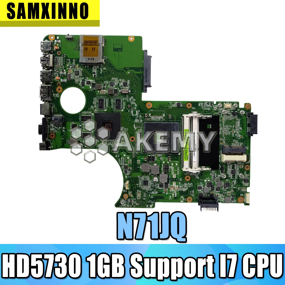 N71JQ Laptop Support I7 CPU Motherboard for ASUS  N71JQ N71JA N71J 2.1  Motherboard 100% Test ok  HD5730 1GB    Motherboards     - title=