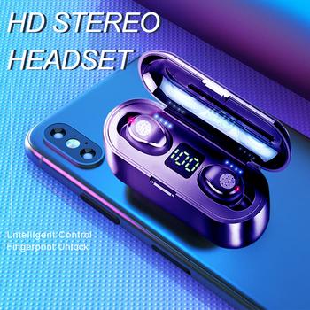KUGE Wireless V5 0 słuchawki Bluetooth Stereo HD słuchawki sportowe wodoodporne słuchawki z podwójny mikrofon i 2000mAh ładowanie baterii Cas tanie i dobre opinie Inne CN (pochodzenie) Bezprzewodowy + Przewodowe Do Internetu Bar Monitor Słuchawkowe Do Gier Wideo Wspólna Słuchawkowe