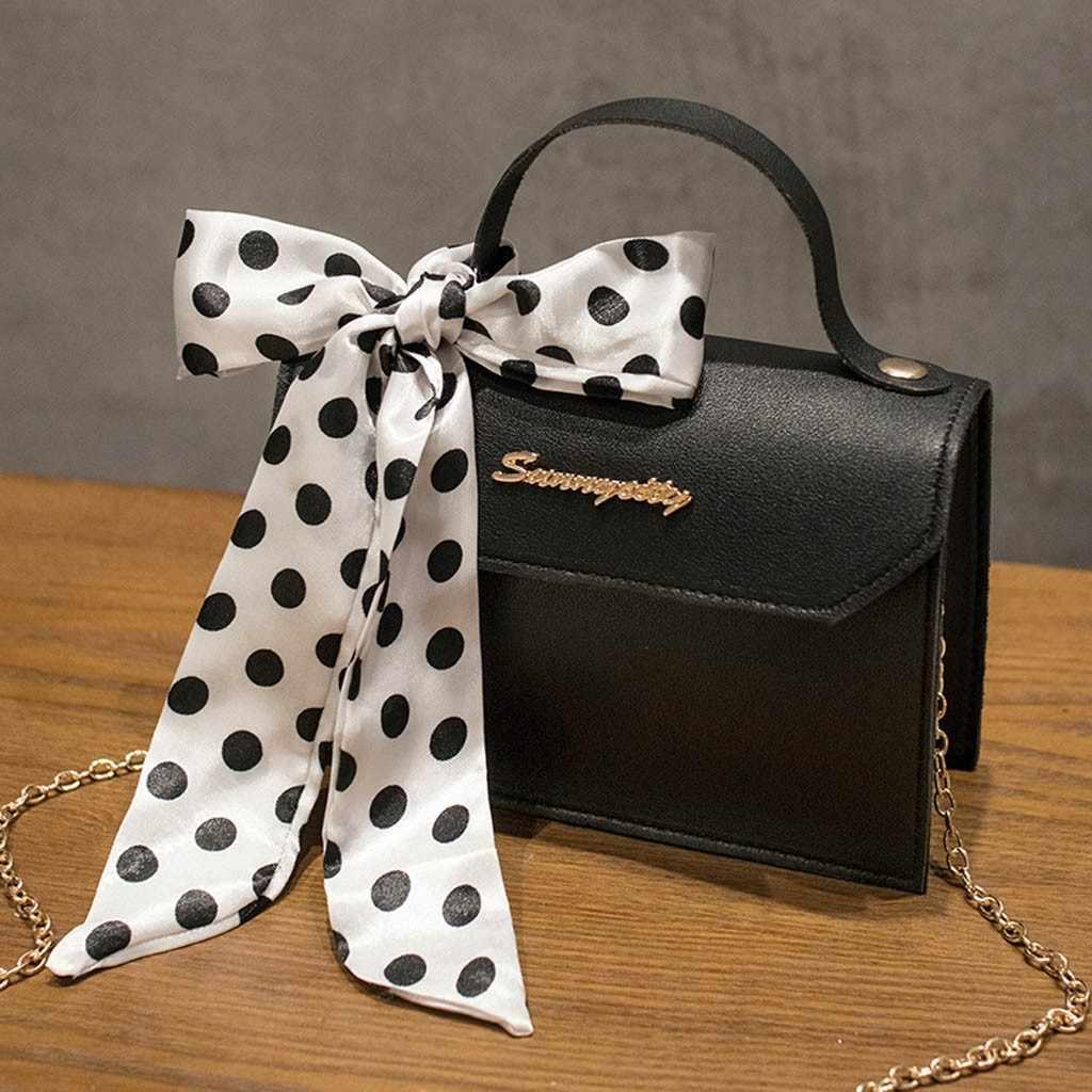 Сумка через плечо женская Новая мода точка лук печатных кошелек с надписью Портативная сумка-мессенджер для женщин 2019 сумка женская Чез плечо