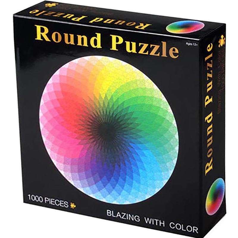 Puzzles 1000 Pcs Round Jigsaw Puzzles Rainbow Palette Party Home Puzzles Intellectual Game For Adults And Kids Puzzle Gift