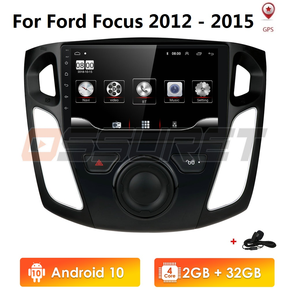 2G RAM 32G ROM For <font><b>Ford</b></font> <font><b>Focus</b></font> 3 Mk3 9 Inch screen 2012-2015 Car Radio Multimedia Video Player <font><b>Navigation</b></font> GPS Android 10 image