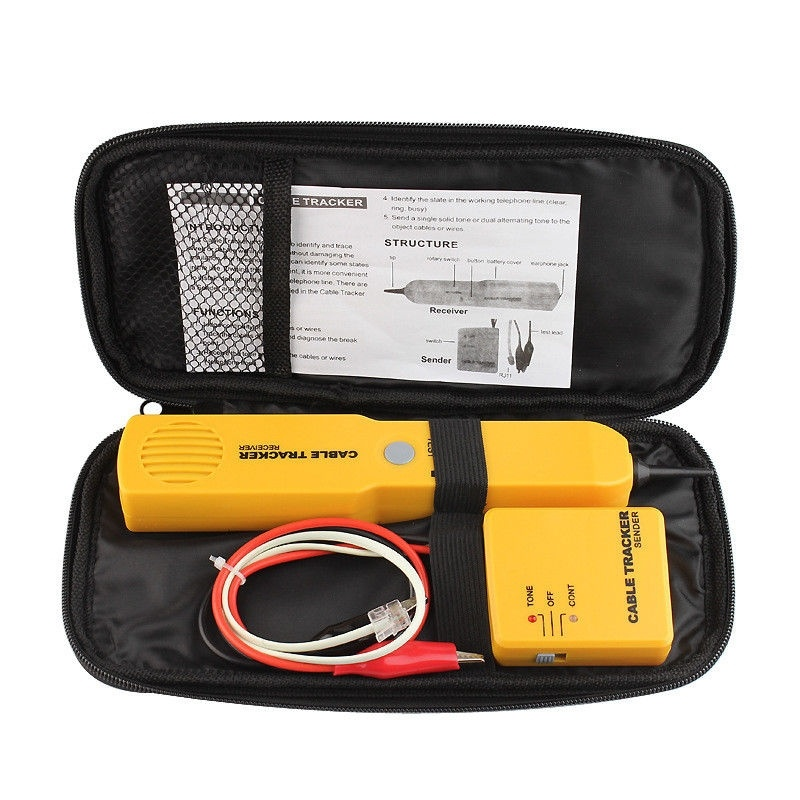 Hot Sale CABLE FINDER TONE GENERATOR PROBE TRACKER WIRE NETWORK TESTER TRACER KIT