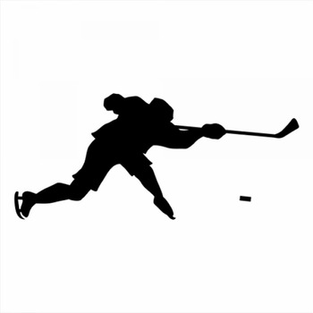 18x9cm Ice hockey Sportman Boy Stickers athlete Lover Car Stickers Decal Car Rear Windshield Silhouette Stickers CL316 image