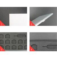 portable aluminum Black Case Memory SIM card Storage Box Universal Protector Holder Aluminum Portable package Storage box for iPhone 11 Samsung (5)