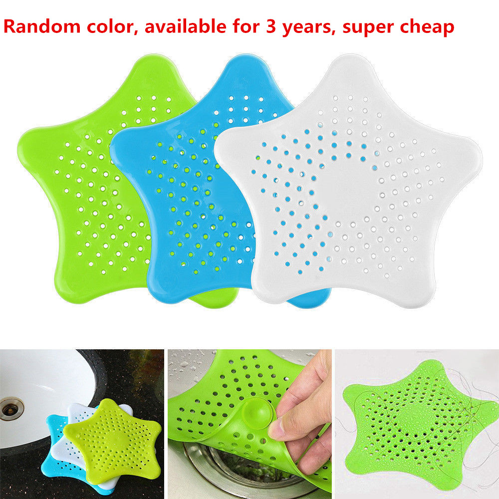 2Pc Sewer Outfall Strainer Bathroom Sink Filter Anti-blocking Floor Drain Hair Stopper Catcher For Bathroom Accessories