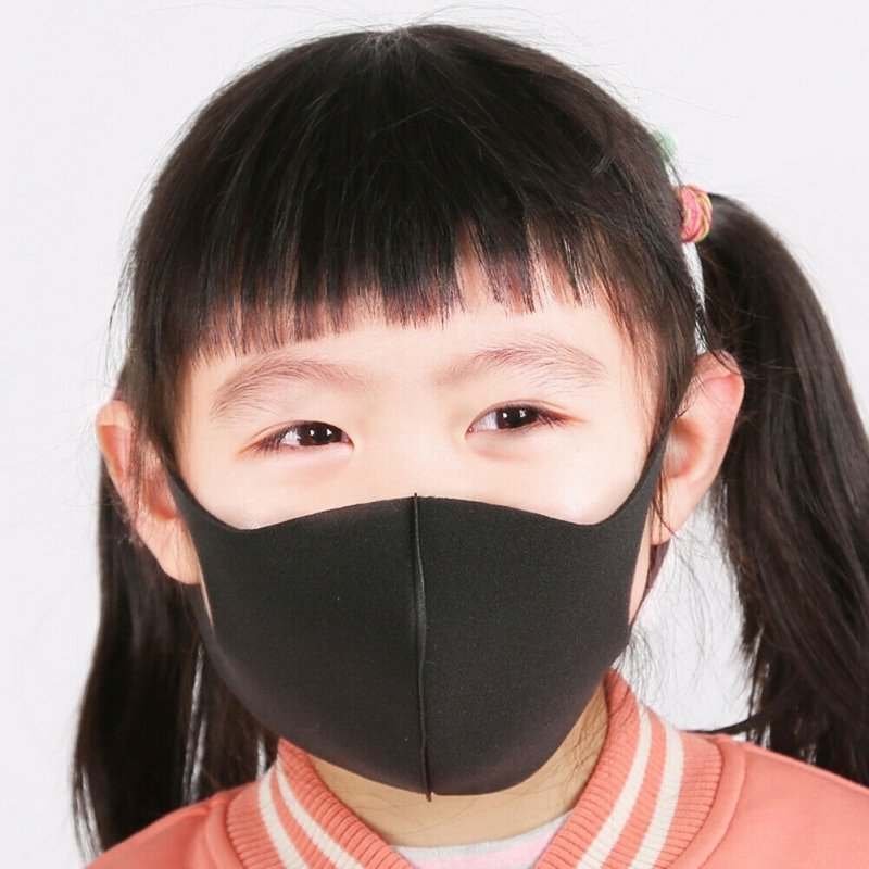 Baby Kids Masks 3pcs Kids Outdoor Cycling Anti Dust Haze Sponge Mouth Face Mask Respirator Masks 1
