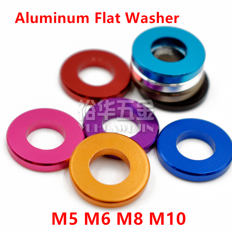 10pcs M5 M6 M8 M10 Aluminum flat washer for RC Model Parts Aluminum countersunk Gasket Washer meson