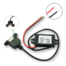 цена на Step Down Converter Buck Module 12V to 5V 3A 15W USB with Ear Output Power Adapter Car Power Converter 12v to 5v step down