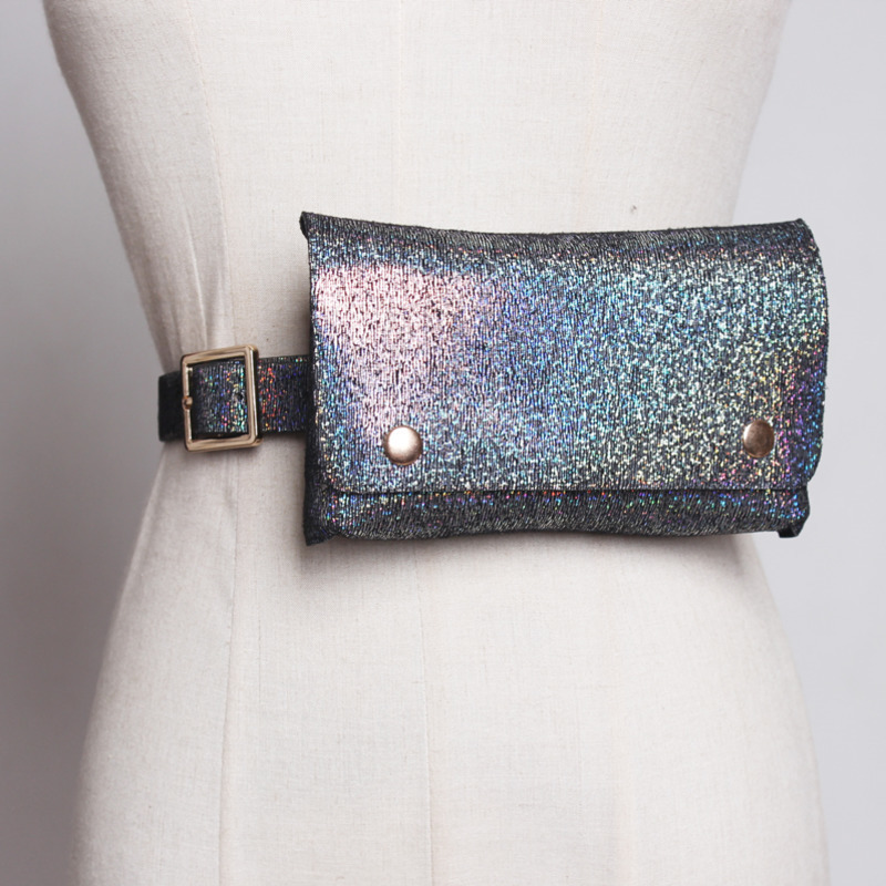 2020 New Fashion Spring Trendy Design Waist Bag For Women Casual Laser Removable All-match Leather Belt Bag Stylish Female ZK306