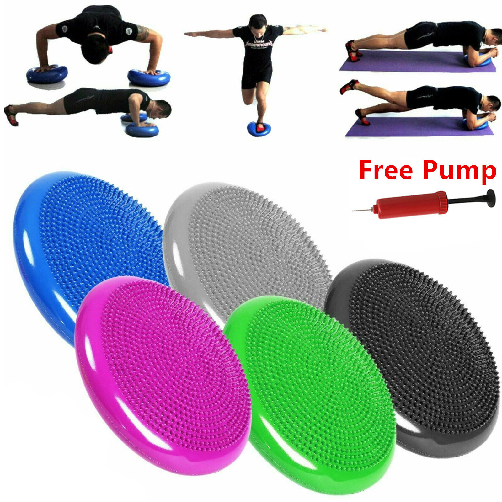 33 см, прочный надувной Массажный мяч для йоги, Универсальный спортивный тренажер для фитнеса, йоги, балансировки, дисковой подушки, Бесплатн...