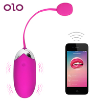 OLO Multispeed вибратор приложение Bluetooth взрослый продукт USB Перезаряжаемый силиконовый беспроводной пульт дистанционного управления интимные и...