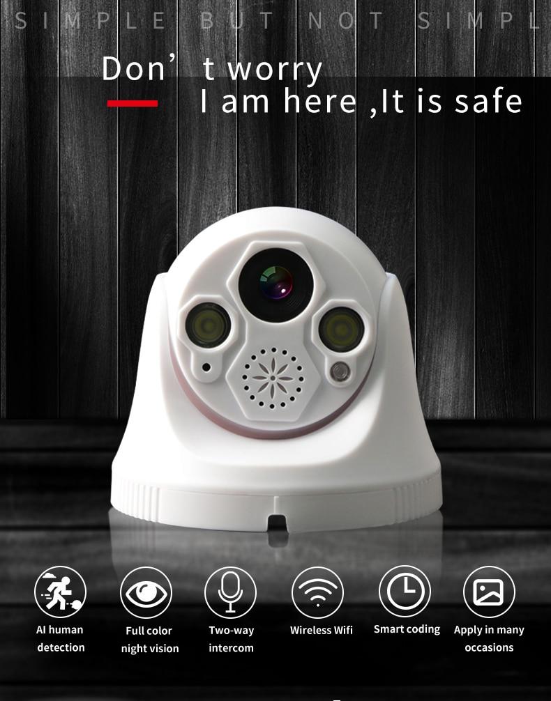 Wide Angle IP Camera Audio Dome IP Camera Security indoor ipcam 1080P FULL HD CCTV ONVIF Surveillance Cameras wifi camera NVR