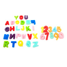 36x Verf Spons Foam Alfabetten Cijfers Letters Postzegels Stamper Kid Diy Art Craft(China)