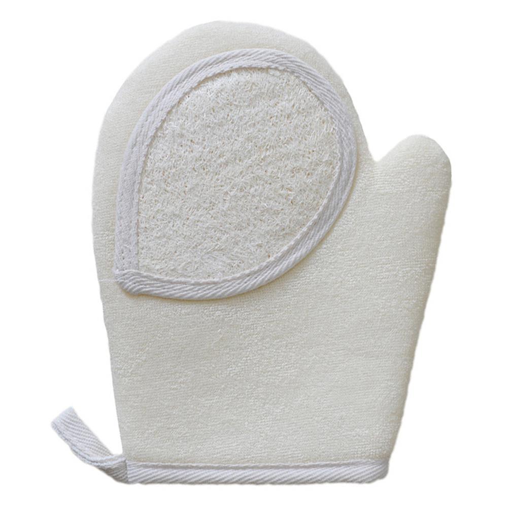 1PC Natural Healthy Loofah Shower Bath Gloves Exfoliating Wash Skin Spa Massage Scrub Body Scrubber Glove Bathroom Accessories