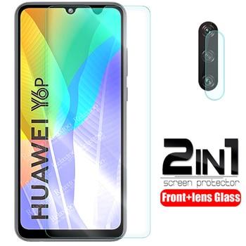 Перейти на Алиэкспресс и купить Защитное стекло для объектива камеры 2-в-1 для huawei y6p 2020 стекло на huaweiy6p huawey hauwei y6 p y 6 p Защитная пленка для экрана телефона