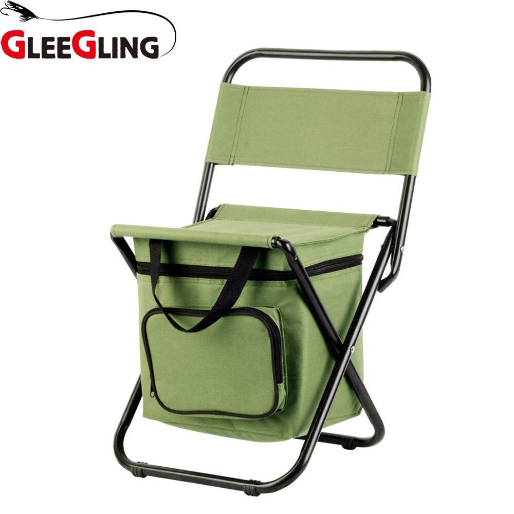 Brillant pliable chaise de pêche sac à dos Camouflage Oxford tissu extérieur siège pliant sac de pêche et chaise chaises pliantes