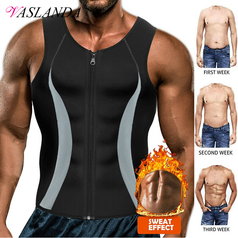 LISH Mens Slimming Light Compression Tank Top Shirt Sleeveless Body Shaper Shirt for Weight Loss
