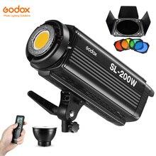 Godox SL 200W 200Ws 5600K סטודיו LED רציף אור מנורת w/מרחוק