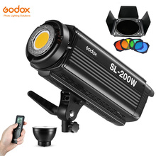 Godox SL 200W 200Ws 5600K stüdyo LED sürekli fotoğraf Video işığı lambası w/uzaktan