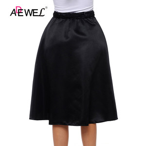 Image 5 - ADEWEL Lady Elegant Retro Style Buttons Front Flared Midi Skirt Black Skirts Womens Buttons Hot A Line Cute Skirts