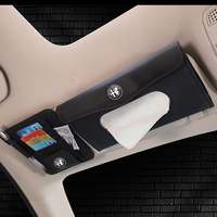 Araç kiti doku kutusu evrensel PU araba güneşlik asılı tip desen doku kapağı araba Styling için Alfa Romeo 159 147 156