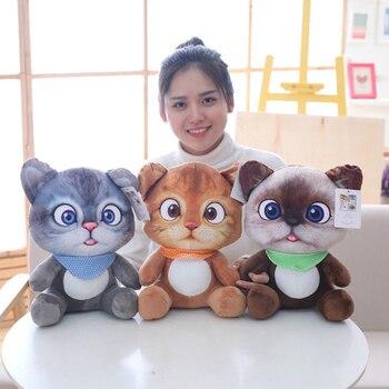 2020 Disney Animal Cartoon Dolls Pillow Cushion Mini Cute Cat Plush Stuffed Toys Christmas Birthyday Gifts for kids