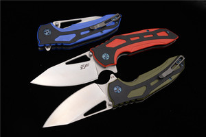 Image 3 - Eafengrow Milan Derby 100% D2 steel Blade ball bearing G10 Handle Tactical Camping Pocket Hunting Outdoor EDC Tool Folding Knife