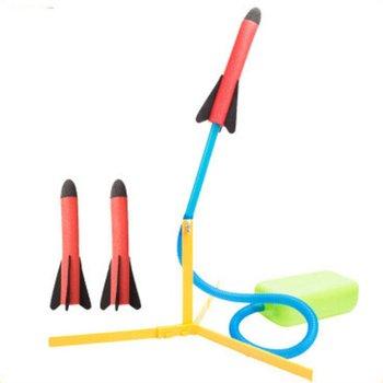 Children Toy Summer Outdoor Pedal Rocket Launcher Missile Cannon Toy EVA Launch Rocket Launcher Children Gift realts trumpeter 01024 1 35 ex soviet 2p19 launcher w r 17 missile ss 1c scud b of 8k14 missile system