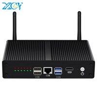 XCY 6 LAN мини-ПК межсетевой экран vpn-маршрутизатор Intel Core i3-5010U 4010U AES-NI 4 * USB HDMI RJ45 консоль Intel ie11at NIC 4G LTE WiFi