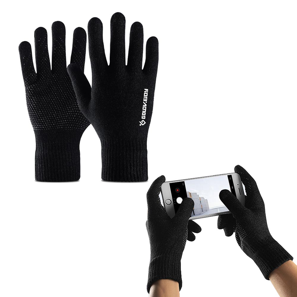 1Pair Polar Sport Couple Touch Screen Smartphone Gloves, Fleece Lined Interior Comfort & Warmth, Compatible For Universal Phones