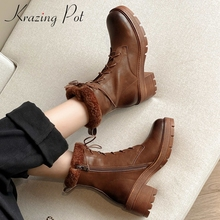 Ankle-Boots Boor Maiden Snow Zipper High-Heel Classic-Colors Vintage Natural-Leather