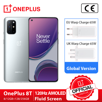 OnePlus 8T 8GB 128GB OnePlus Official Store Snapdragon 865 5G Smartphone 120Hz AMOLED Fluid Screen 48MP 65W Electronics Mobile Phones