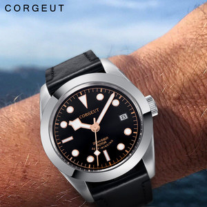 Image 2 - Corgeut 41mm Luxury Brand Military Mechanical Mens Watch Luminous Sport Diver Clock Leather Strap Wristwatch Men