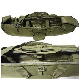 Image 3 - 100 cmarmy بندقية حقيبة الظهر مزدوجة بندقية حقيبة الحال بالنسبة منشار M249 M4A1 M16 AR15 Airsoft كاربين حقيبة حمل حقيبة الكتف حزام