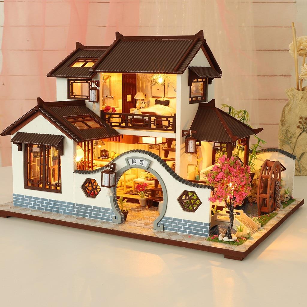 H442ec45b790e47598417f45e26aa962bE - Robotime - DIY Models, DIY Miniature Houses, 3d Wooden Puzzle