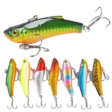 Fishing-Lure Wobbler Vib-Bait Diving-Swivel Crankbait Lead-Inside Hard Winter with Jig-Wing