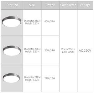 Image 4 - Hiện Đại Đèn LED Âm Trần Chiếu Sáng Đèn Lắp Mặt Phòng Khách Phòng Ngủ Phòng Tắm Điều Khiển Từ Xa Trang Trí Nhà Bếp