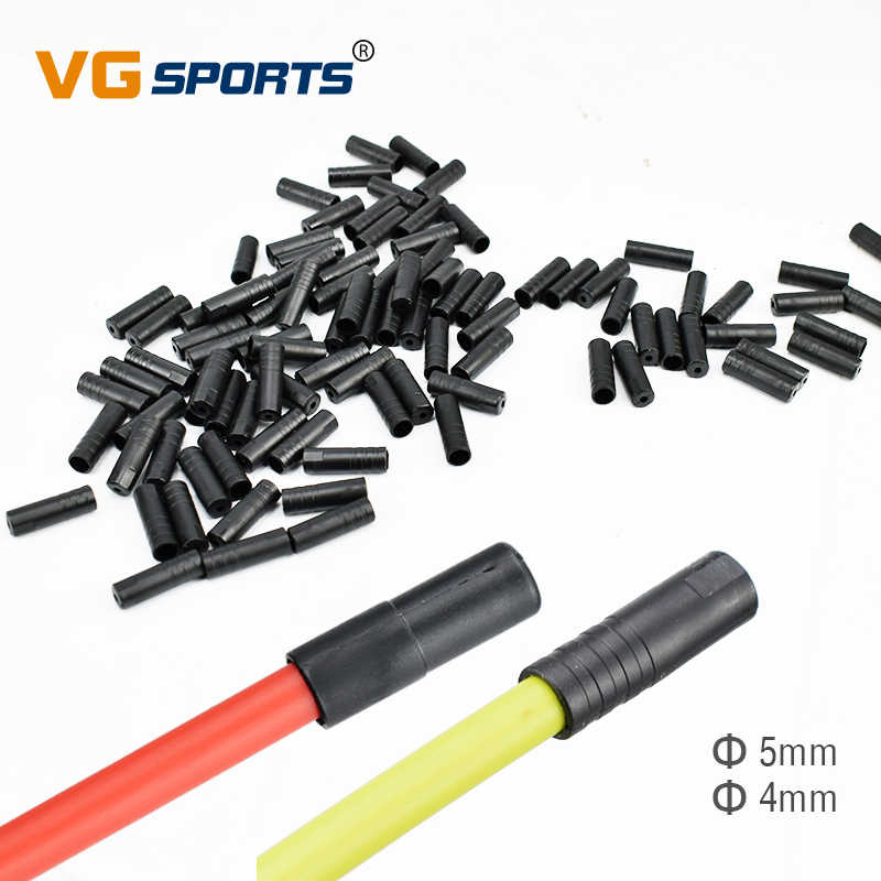 100Pcs Bike Bicycle Shifter Brake Gear Outer Cable Tips Ends Crimp Ferrule