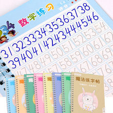 4 Books Learning Numbers In English Painting Practice Art Book Baby Copybook For Calligraphy Writing Kids English Lettering Toy