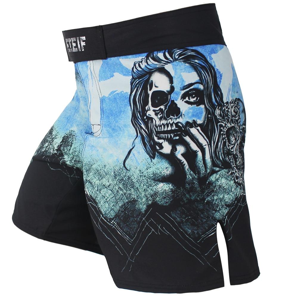 Azul Preto dos homens Calças Secas Rápidas Respirável Calças de Fitness calções de boxe Luta luvas de Boxe muay thai calções Tiger Muay Thai shorts mma boxeo