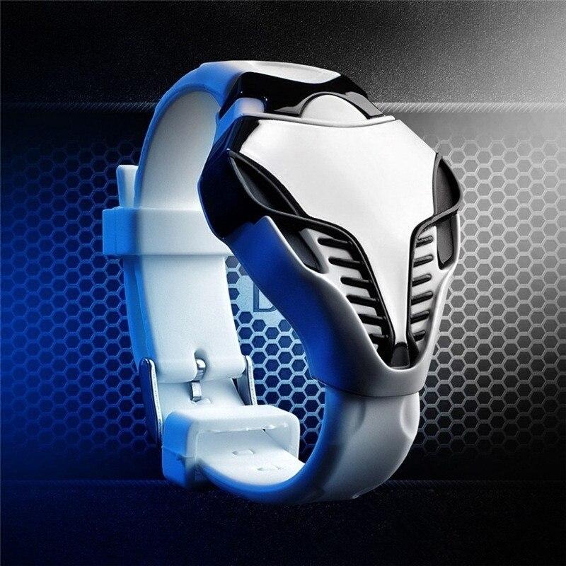 2020 nouveau LED numérique militaire montre Cobra hommes Wathces coloré Silicone Triangle cadran serpent tête sport montre-bracelet bracelet cadeau