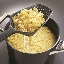 1 Uds cuchara colador de nailon, accesorios de cocina, utensilios para drenar vegetales, cuchara para agua, herramientas de cocina casera portátiles
