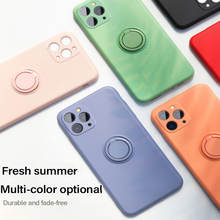 Ultra-thin Silicone Magnetic Holder Phone Case For iPhone 11 Pro SE XS max XR XS X 8 7 6s 6 Plus Stand Finger Ring Bracket Cover