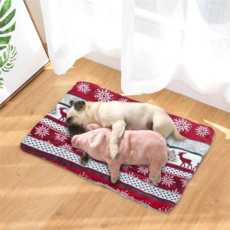 Estera de cama para perro vellón cálido invierno 3